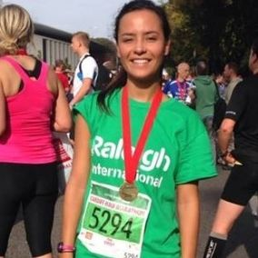 Emily after completing her half marathon